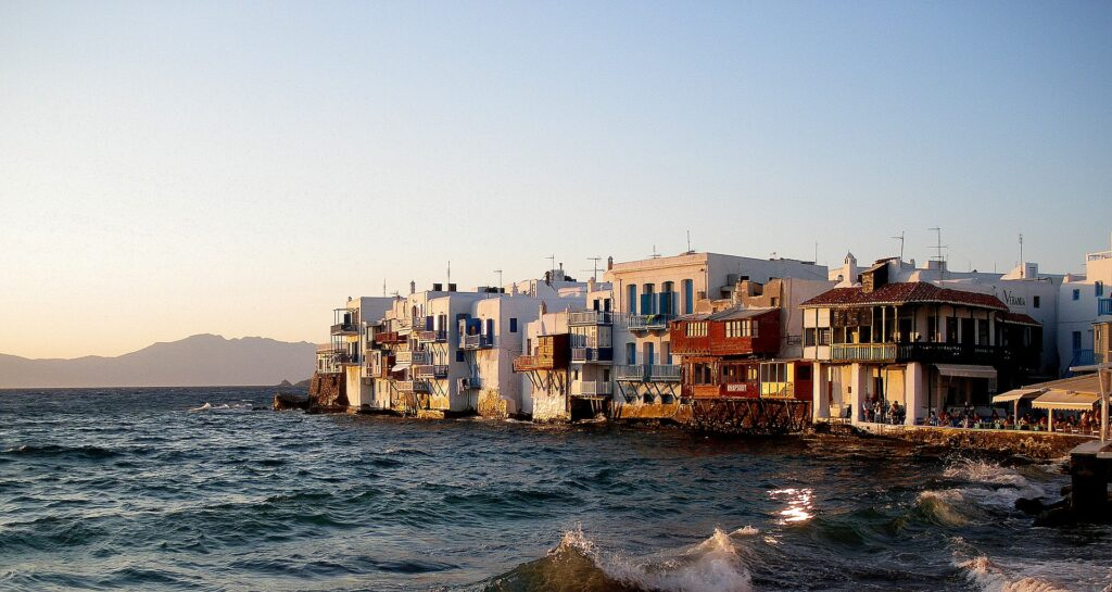 sailing in cyclades